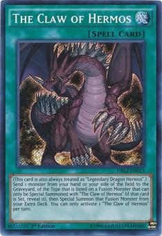 Yu-Gi-Oh Dark Legends 2 1st Ed. Single The Claw of Hermos Secret Rare - NEAR MINT (NM)