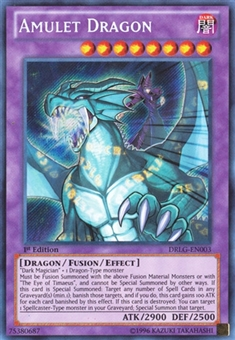 Yu-Gi-Oh Dragons of Legend 1st Ed. Single Amulet Dragon Secret Rare - NEAR MINT (NM)