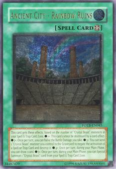 Yu-Gi-Oh Force of the Breaker 1st Ed. Single Ancient City: Rainbow Ruins Ultimate Rare - NEAR MINT (NM)