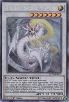 Yu-Gi-Oh Legendary Collection 5Ds 1st Ed. Single Ancient Sacred Wyvern Secret Rare - NEAR MINT (NM)