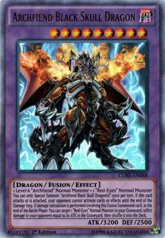 Yu-Gi-Oh CORE 1st ed. Single Archfiend Black Skull Dragon Ultra Rare - NEAR MINT (NM)