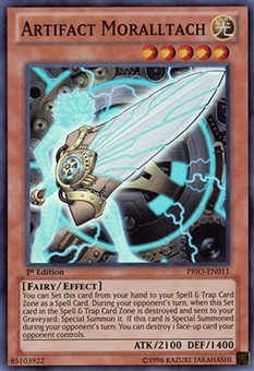 Yu-Gi-Oh Primal Origin 1st Ed. Single Artifact Moralltach Super Rare - NEAR MINT (NM)