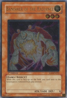 Yu-Gi-Oh Enemy of Justice 1st Ed. Single Banisher of the Radiance Ultimate Rare - SLIGHT PLAY (SP)