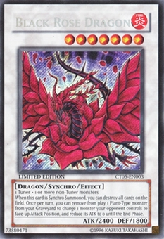 Yu-Gi-Oh Promotional Single Black Rose Dragon Secret Rare (CT05) - SLIGHT PLAY (SP)