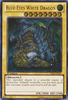 Yu-Gi-Oh YSKR 1st Ed. Single Blue-Eyes White Dragon Ultimate Rare - NEAR MINT (NM)