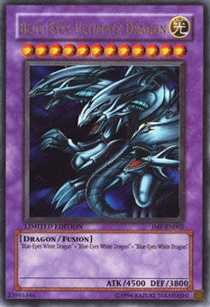 Yu-Gi-Oh Promotional Single Blue-Eyes Ultimate Dragon Secret Rare JMP - HEAVY PLAY