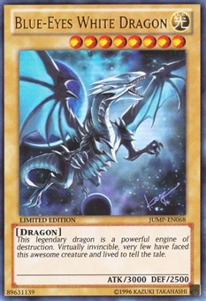 Yu-Gi-Oh Promotional Single Blue-Eyes White Dragon Ultra Rare JUMP-EN068 - NEAR MINT
