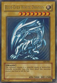 Yu-Gi-Oh Starter Deck Kaiba Single Blue-Eyes White Dragon Ultra Rare - HEAVY PLAY (HP)