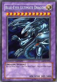 Yu-Gi-Oh Promotional Single Blue-Eyes Ultimate Dragon Secret Rare - HEAVY PLAY (HP)