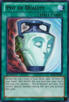 Yu-Gi-Oh Battle Pack Epic Dawn Single Pot of Duality Rare - NEAR MINT (NM)