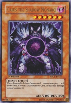 Yu-Gi-Oh Starter Deck Dark Emperor 1st. Ed. Single Caius the Shadow Monarch Ultra - NM