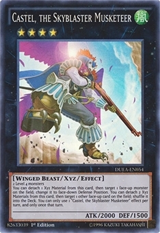 Yu-Gi-Oh Duelist Alliance 1st Ed. Single Castel, the Skyblaster Musketeer - NEAR MINT (NM)