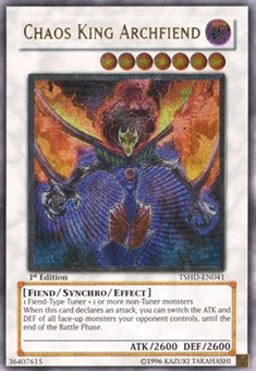 Yu-Gi-Oh The Shining Darkness 1st Edition Single Chaos King Archfiend Ultra Rare