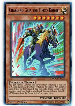 Yu-Gi-Oh DOCS 1st Ed. Single Charging Gaia the Fierce Knight Ultra Rare - NEAR MINT (NM)