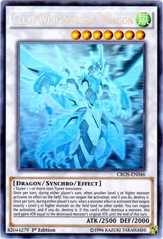 Yu-Gi-Oh Crossed Souls 1st Ed. Single Clear Wing Synchro Dragon Ghost Rare - NEAR MINT / SLIGHT PLAY
