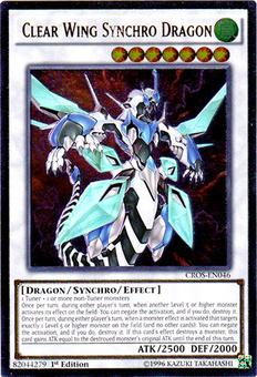Yu-Gi-Oh Crossroads of Chaos Single Clear Wing Synchro Dragon Ultimate Rare - NEAR MINT (NM)