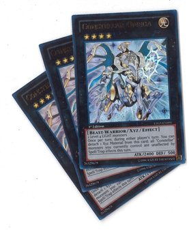 Yu-Gi-Oh Legendary Collection 1st Ed. PLAYSET Constellar Omega Ultra Rare - NEAR MINT