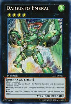 Yu-Gi-Oh Hidden Arsenal 1st Ed. Single Daigusto Emeral Secret Rare - NEAR  MINT (NM)