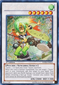 Yu-Gi-Oh Hidden Arsenal 1st Edition Single Daigusto Sphreez Secret Rare HA06-EN024