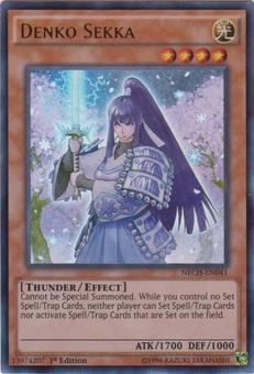 Yu-Gi-Oh The New Challengers Single Denko Sekka Ultra Rare - NEAR MINT (NM)