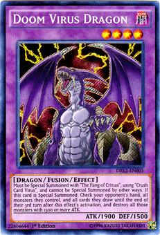 Yu-Gi-Oh Dragons of Legend 2 1st Ed. Single Doom Virus Dragon Secret Rare - NEAR MINT (NM)