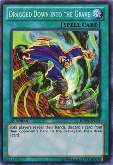 Yu-Gi-Oh Legendary Collection 1st Ed. Single Dragged Down Into The Grave Super Rare - NM