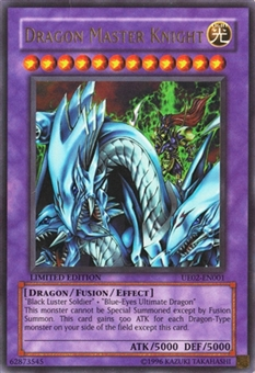 Yu-Gi-Oh Promotional Single Dragon Master Knight Ultra Rare UE02 - SLIGHT PLAY (SP)