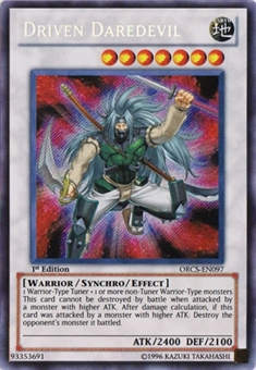 Yu-Gi-Oh Order of Chaos 1st Edition Single Driven Daredevil Secret Rare - NEAR MINT
