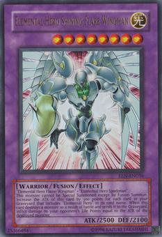 Yu-Gi-Oh Elemental Energy Single Elemental HERO Shining Flare Wingman Ultra Rare - SLIGHT PLAY (SP)
