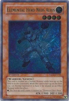 Yu-Gi-Oh Tactical Evolution 1st Ed. Single Elemental Hero Neos Alius Ultimate Rare - SLIGHT PLAY (SP)