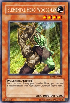 Yu-Gi-Oh Premium Pack Single Elemental Hero Woodsman Secret Rare - SLIGHT PLAY (SP)