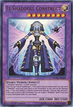 Yu-Gi-Oh Duelist Alliance 1st Ed. Single El Shaddoll Construct Ultra Rare - NEAR MINT (NM)