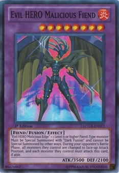 Yu-Gi-Oh LCGX 1st Ed. Single Evil HERO Malicious Fiend Super Rare - SLIGHT PLAY (SP)