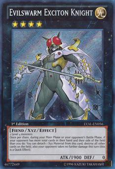 Yu-Gi-Oh Legacy of the Valiant 1st Ed. Single Evilswarm Exciton Knight Secret Rare - NEAR MINT (NM)