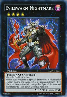 Yu-Gi-Oh Hidden Arsenal 1st Ed. Single Evilswarm Nightmare Super Rare - NEAR MINT (NM)