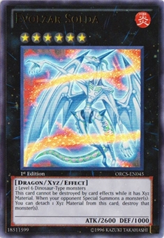 Yu-Gi-Oh Order of Chaos 1st Edition Single Evolzar Solda Ultra Rare ORCS-EN045