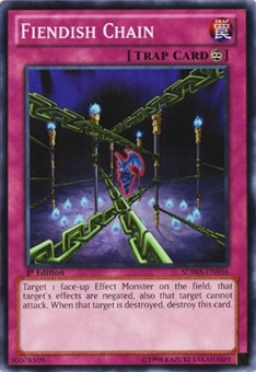 Yu-Gi-Oh Structure Deck Samurai Warlords 1st Ed. Single Fiendish Chain Common - SLIGHT PLAY (SP)