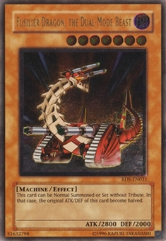 Yu-Gi-Oh Rise of Destiny Single Fusilier Dragon, the Dual-Mode Beast Ultimate Rare - SLIGHT PLAY (SP)