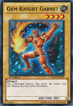 Yu-Gi-Oh Hidden Arsenal 1st Ed. Single Gem-Knight Garnett Super Rare - SLIGHT PLAY (SP)