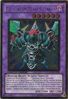 Yu-Gi-Oh Gold Single Gladiator Beast Gyzarus Ultra Rare - NEAR MINT (NM)