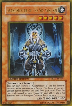 Yu-Gi-Oh Gold Series 1 Single Grandmaster of the Six Samurai UItra Rare - SLIGHT PLAY