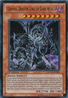 Yu-Gi-Oh Structure Deck 1st Ed. Single Grapha, Dragon Lord of Dark World Ultra Rare - NM