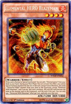 Yu-Gi-Oh World Superstars 1st Ed. Single Elemental HERO Blazeman Secret Rare - NEAR MINT (NM)