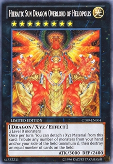 Yu-Gi-Oh CT09 Single Hieratic Sun Dragon Overlord of Heliopolis Secret Rare - NEAR MINT