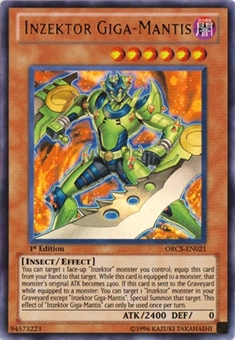 Yu-Gi-Oh Order of Chaos 1st Ed. Single Inzektor Giga-Mantis Ultra Rare - NEAR MINT (NM)