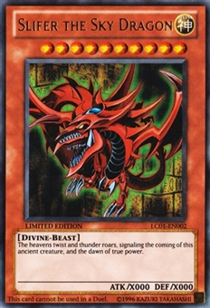 Yu-Gi-Oh Legendary Collection Single Slifer the Sky Dragon Ultra Rare - SLIGHT PLAY (SP)