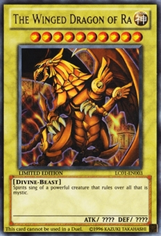 Yu-Gi-Oh Legendary Collection 1 Single The Winged Dragon of Ra Ultra Rare - NEAR MINT (NM)