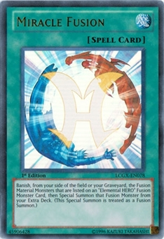 Yu-Gi-Oh Legendary Collection 1st Edition Single Miracle Fusion Ultra Rare - SLIGHT PLAY (SP)