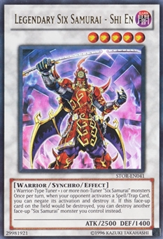 Yu-Gi-Oh Storm of Ragnarok Single Legendary Six Samurai - Shi En Ultra Rare - NEAR MINT