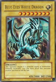 Yu-Gi-Oh LOB 1st Edition Single Blue-Eyes White Dragon ultra rare - HEAVY PLAY (HP)